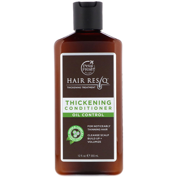 PETAL FRESH, PURE, HAIR RESQ, THICKENING TREATMENT CONDITIONER, OIL CONTROL, 12 FL OZ / 355ml