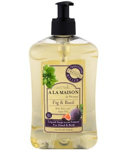 A LA MAISON DE PROVENCE, HAND AND BODY SOAP, FIG AND BASIL, 16.9 FL OZ / 500ml