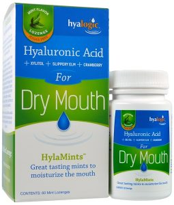 HYALOGIC LLC, HYALURONIC ACID FOR DRY MOUTH, HYLAMINTS, 60 MINT LOZENGES