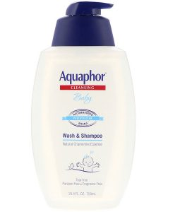 AQUAPHOR, BABY, WASH & SHAMPOO, FRAGRANCE FREE, 25.4 FL OZ / 750ml