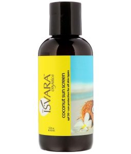ISVARA ORGANICS, COCONUT SUN SCREEN, SPF 30, 5.5 FL OZ / 162ml