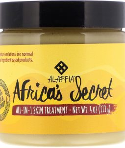 ALAFFIA, AFRICA'S SECRET, ALL-IN-1 SKIN TREATMENT, SHEA BUTTER & COCONUT OIL, NATURALLY SCENTED, 4 OZ / 113g