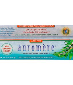 AUROMERE, AYURVEDIC HERBAL TOOTHPASTE, LICORICE, 4.16 OZ / 117g