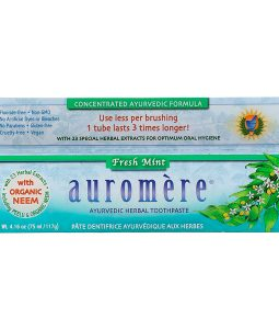 AUROMERE, AYURVEDIC HERBAL TOOTHPASTE, FRESH MINT, 4.16 OZ / 117g
