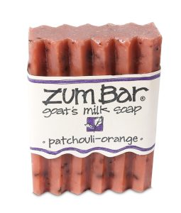 INDIGO WILD, ZUM BAR, GOAT'S MILK SOAP, PATCHOULI-ORANGE, 3 OZ BAR