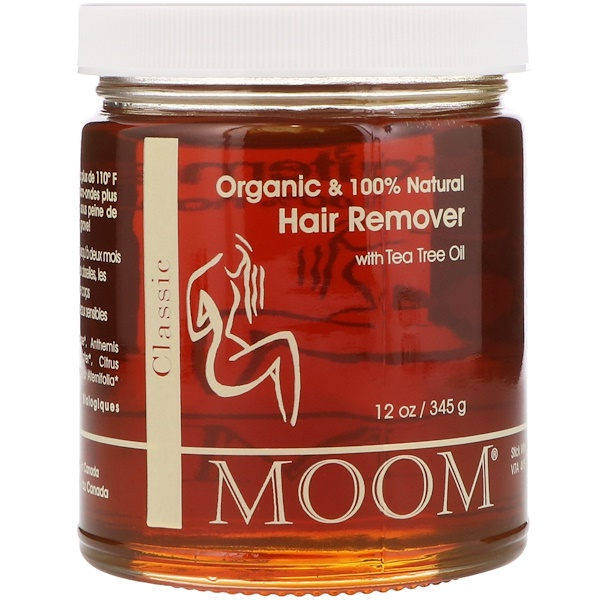 MOOM, HAIR REMOVER, WITH TEA TREE OIL, CLASSIC, 12 OZ / 345g
