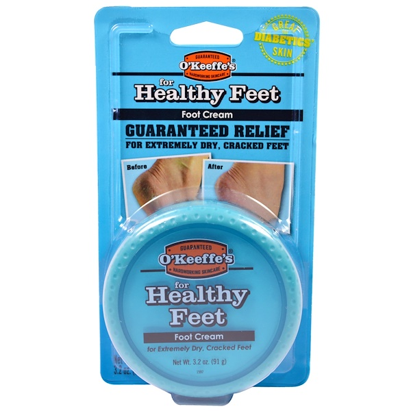 O'KEEFFE'S, FOR HEALTHY FEET, FOOT CREAM, 3.2 OZ / 91g