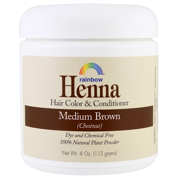RAINBOW RESEARCH, HENNA, HAIR COLOR AND CONDITIONER, MEDIUM BROWN (CHESTNUT), 4 OZ / 113g