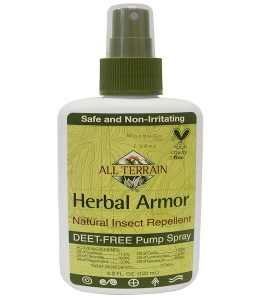 ALL TERRAIN, HERBAL ARMOR, NATURAL INSECT REPELLENT DEET-FREE PUMP SPRAY, 4 FL OZ / 120ml