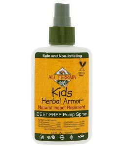 ALL TERRAIN, KIDS HERBAL ARMOR, NATURAL INSECT REPELLENT, 4 FL OZ / 120ml