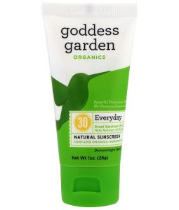 GODDESS GARDEN, ORGANICS, EVERYDAY, NATURAL SUNSCREEN, SPF 30, 1 OZ / 28g