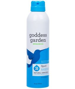 GODDESS GARDEN, ORGANICS, NATURAL SUNSCREEN, SPORT, SPRAY, SPF 30, 6 OZ / 177ml