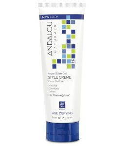 ANDALOU NATURALS, ARGAN STEM CELLS STYLE CREME, THINNING HAIR TREATMENT, 5.8 FL OZ / 172ml