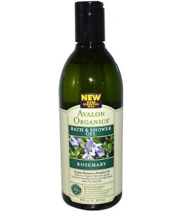 AVALON ORGANICS, BATH & SHOWER GEL, ROSEMARY, 12 FL OZ / 355ml