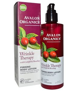 AVALON ORGANICS, WRINKLE THERAPY, WITH COQ10 & ROSEHIP, FIRMING BODY LOTION, 8 OZ / 227g