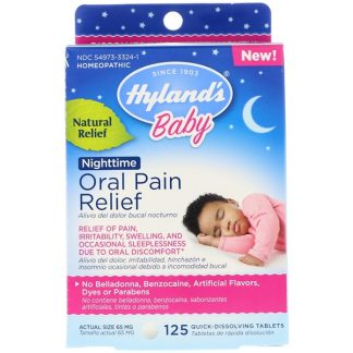 HYLAND'S, BABY, ORAL PAIN RELIEF, NIGHTTIME, 125 QUICK-DISSOLVING TABLETS