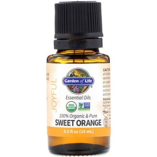 GARDEN OF LIFE, 100% ORGANIC & PURE, ESSENTIAL OILS, JOYFUL, SWEET ORANGE, 0.5 FL OZ / 15ml