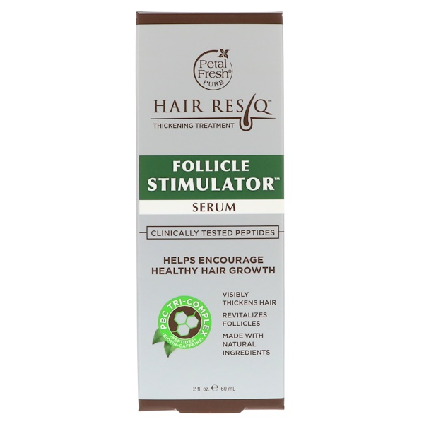 PETAL FRESH, HAIR RESQ, THICKENING TREATMENT, FOLLICLE STIMULATOR SERUM, 2 FL OZ / 60ml