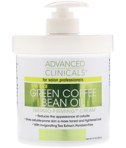 ADVANCED CLINICALS, GREEN COFFEE BEAN OIL, THERMO-FIRMING CREAM, 16 OZ / 454g