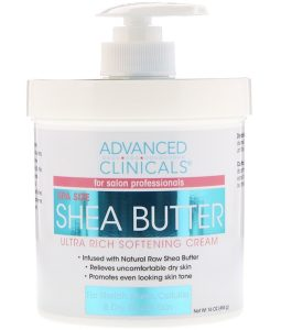 ADVANCED CLINICALS, SHEA BUTTER, ULTRA RICH SOFTENING CREAM, 16 OZ / 454g