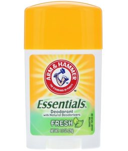 ARM & HAMMER, ESSENTIALS NATURAL DEODORANT, FOR MEN AND WOMEN, FRESH, 1.0 OZ / 28g