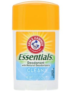 ARM & HAMMER, ESSENTIALS NATURAL DEODORANT, FOR MEN AND WOMEN, CLEAN, 1.0 OZ / 28g