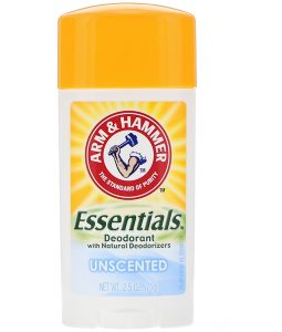 ARM & HAMMER, ESSENTIALS NATURAL DEODORANT, FOR MEN AND WOMEN, UNSCENTED, 2.5 OZ / 71g