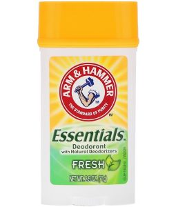 ARM & HAMMER, ESSENTIALS NATURAL DEODORANT, FOR MEN AND WOMEN, FRESH, 2.5 OZ / 71g