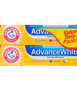 ARM & HAMMER, ADVANCEWHITE, EXTREME WHITENING TOOTHPASTE, CLEAN MINT, TWIN PACK, 6.0 OZ / 170g EACH