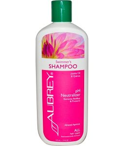 AUBREY ORGANICS, SWIMMER'S SHAMPOO, PH NEUTRALIZER, ALMOND APRICOT, ALL HAIR TYPES, 11 FL OZ / 325ml