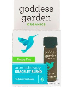 GODDESS GARDEN, ORGANICS, HAPPY DAY, AROMATHERAPY BRACELET BLEND, 0.125 FL OZ / 3.7ml