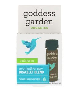 GODDESS GARDEN, ORGANICS, PICK-ME-UP, AROMATHERAPY BRACELET BLEND, 0.125 FL OZ / 3.7ml