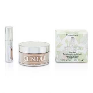 CLINIQUE BLENDED FACE POWDER + BRUSH - NO. 03 TRANSPARENCY; PREMIUM PRICE DUE TO SCARCITY  35G/1.2OZ