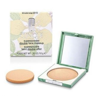 CLINIQUE SUPERPOWDER - NO. 02 MATTE BEIGE; PREMIUM PRICE DUE TO SCARCITY  10G/0.35OZ