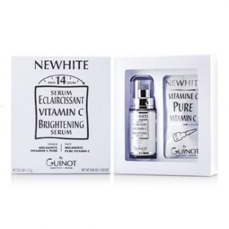 GUINOT NEWHITE VITAMIN C BRIGHTENING SERUM (BRIGHTENING SERUM 23.5ML/0.8OZ + PURE VITAMIN C 1.5G/0.05OZ)  2PCS