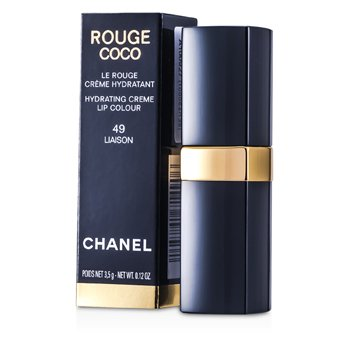 CHANEL ROUGE COCO HYDRATING CREME LIP COLOUR - # 49 LIAISON  3.5G/0.12OZ