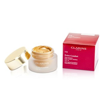 CLARINS EXTRA COMFORT FOUNDATION SPF15 - # 113 CHESTNUT  30ML/1.1OZ