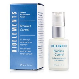 BIOELEMENTS BREAKOUT CONTROL - 5% BENZOYL PEROXIDE ACNE TREATMENT (FOR VERY OILY, OILY, COMBINATION, ACNE SKIN TYPES)  29ML/1OZ
