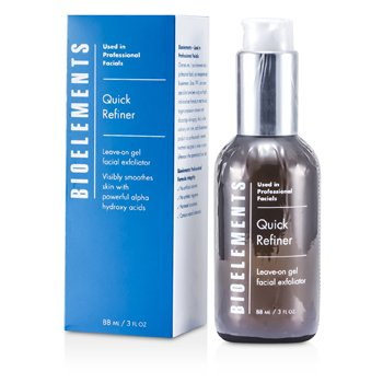 BIOELEMENTS QUICK REFINER - LEAVE-ON GEL FACIAL EXFOLIATOR - FOR ALL SKIN TYPES, EXCEPT SENSITIVE  88ML/3OZ