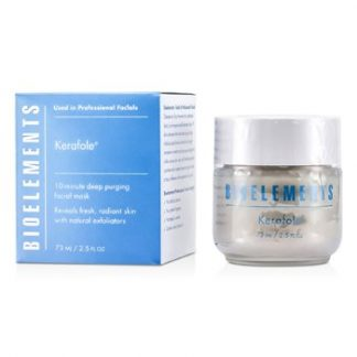 BIOELEMENTS KERAFOLE - 10-MINUTE DEEP PURGING FACIAL MASK - FOR ALL SKIN TYPES, EXCEPT SENSITIVE  73ML/2.5OZ