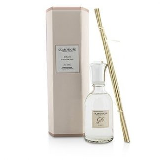 GLASSHOUSE TRIPLE STRENGTH FRAGRANCE DIFFUSER - OAHU (ILIMA MILK & HONEY)  250ML/8.45OZ