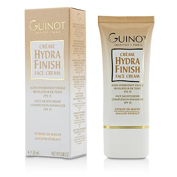 GUINOT CREME HYDRA FINISH FACE MOISTURISER COMPLEXION ENHANCER SPF15  30ML/0.88OZ