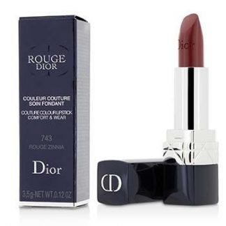 CHRISTIAN DIOR ROUGE DIOR COUTURE COLOUR COMFORT & WEAR LIPSTICK - # 743 ROUGE ZINNIA  3.5G/0.12OZ