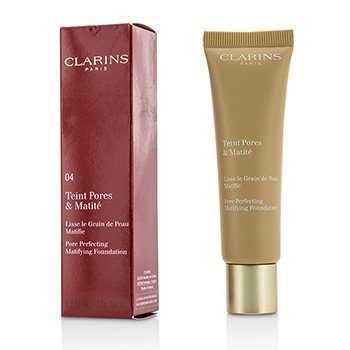 CLARINS PORE PERFECTING MATIFYING FOUNDATION - # 04 NUDE AMBER  30ML/1OZ