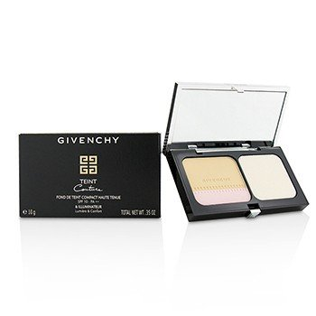 GIVENCHY TEINT COUTURE LONG WEAR COMPACT FOUNDATION & HIGHLIGHTER SPF10 - # 1 ELEGANT PORCELAIN  10G/0.35OZ