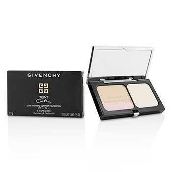 GIVENCHY TEINT COUTURE LONG WEAR COMPACT FOUNDATION & HIGHLIGHTER SPF10 - # 2 ELEGANT SHELL  10G/0.35OZ