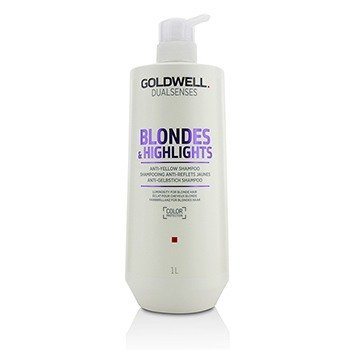 GOLDWELL DUAL SENSES BLONDES & HIGHLIGHTS ANTI-YELLOW SHAMPOO (LUMINOSITY FOR BLONDE HAIR)  1000ML/33.8OZ