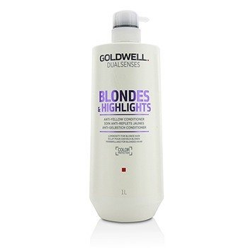 GOLDWELL DUAL SENSES BLONDES & HIGHLIGHTS ANTI-YELLOW CONDITIONER (LUMINOSITY FOR BLONDE HAIR)  1000ML/33.8OZ