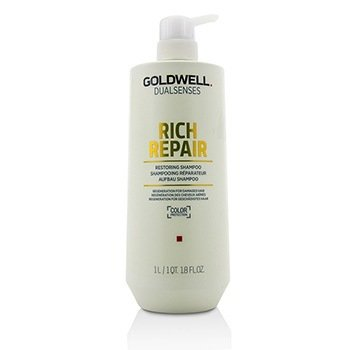 GOLDWELL DUAL SENSES RICH REPAIR RESTORING SHAMPOO (REGENERATION FOR DAMAGED HAIR)  1000ML/33.8OZ