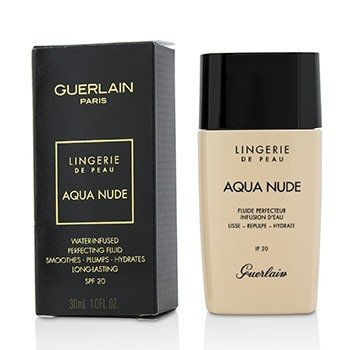 GUERLAIN LINGERIE DE PEAU AQUA NUDE FOUNDATION SPF 20 - # 05W DEEP WARM  30ML/1OZ